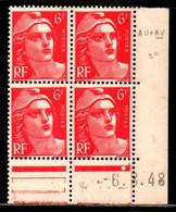 Coin Daté Gandon N° 721A Du 6/8/1948 ** - 1940-1949