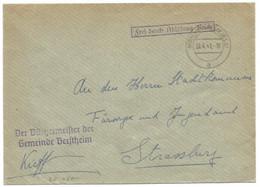 Sk1050 - MOMMENHEIM (ELS) - 1941 - Franchise Der BURGERMEISTER DER GEMEINDE GERSTHEIM - - Alsace Lorraine