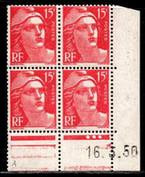 Coin Daté Gandon N° 813 Du 16/3/1950 ** - 1950-1959
