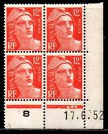 Coin Daté Gandon N° 885 Du 17/6/1952 ** - 1950-1959