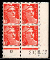 Coin Daté Gandon N° 885 Du 20/10/1952 ** - 1950-1959