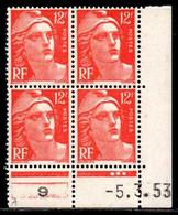 Coin Daté Gandon N° 885 Du 5/3/1953 ** - 1950-1959