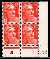 Coin Daté Gandon N° 885 Du 11/3/1953 ** - 1950-1959