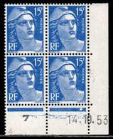 Coin Daté Gandon N° 886 Du 14/10/1953 ** - 1950-1959