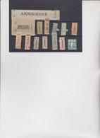 INRESSANTE INSIEME DI  MARCHETTE SCOLASTICHE E PATRONATO - Revenue Stamps