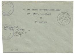 Sk1058 - HOLZHEIM (ELS) - 1941 - Franchise GEMEINDE - Mairie - - Alsace Lorraine