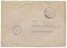 Sk1060 - CACHER EVIDE - 1941 - Franchise KOMMANDO DES RUFTUNGSBEREICHS = Commandement De La Division De L'armement - Alsace Lorraine