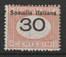 SOMALIE - Timbre TAXE N°34 * (1926) - Somalie