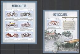 ST2630 2013 MOZAMBIQUE MOCAMBIQUE TRANSPORT HISTORY MOTORCYCLES MOTOCICLETAS KB+BL MNH - Moto