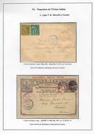Lettre Colonies Générales N°49 + 52 OBL CAD Bleu + CAD Octo Rouge En Entier Carte Postale D'Australie... - Posta Marittima