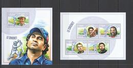 ST2768 2014 NIGER SPORT CRICKET CHAMPIONS BRADMAN GAYLE LEE 1KB+1BL  MNH - Cricket