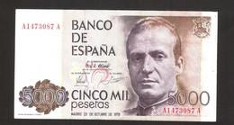 ESPANA / SPAIN / SPAGNA - BANCO De ESPANA - 5000 PESETAS (1979) - JUAN CARLOS - [ 4] 1975-…: Juan Carlos I.
