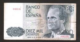 ESPANA / SPAIN / SPAGNA - BANCO De ESPANA - 10000 PESETAS (1985) - JUAN CARLOS - [ 4] 1975-…: Juan Carlos I.