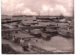 Alexandrie. Egypte. Le Port Et Les écluses. Belle Photo Originale .Edition Photoglob. RARE. - Schiffe