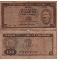 TIMOR  100 Escudos  P24    ( Dated 2.1.1959 )   F. - Timor