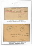 """Lettres Griffe """"Front De Mer De Lorient"""", Griffe """"Front De Mer Noire"""" Bonifacio Et Griffe """"les Fronts De Mer De Tunisie"""" - Posta Marittima"""