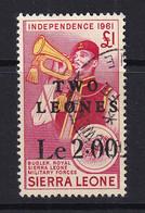 Sierra Leone: 1964/66   Decimal Currency - Surcharge    SG333     Le2 On £1     Used - Sierra Leone (1961-...)