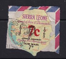 Sierra Leone: 1964/66   Decimal Currency - Surcharge    SG334     7c On 7d     Used - Sierra Leone (1961-...)