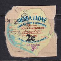 Sierra Leone: 1964/66   Decimal Currency - Surcharge    SG337     2c On 3d      Used - Sierra Leone (1961-...)