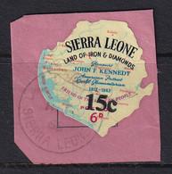 Sierra Leone: 1964/66   Decimal Currency - Surcharge    SG342     15c On 6d      Used - Sierra Leone (1961-...)