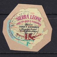 Sierra Leone: 1964/66   Decimal Currency - Surcharge    SG343     15c On 1/-      Used - Sierra Leone (1961-...)
