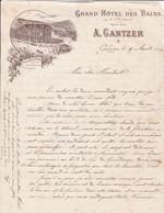Grand Hotel Des Bains Gantzer à Gérardmer Courrier Pour Maubert 1899 - 1900 – 1949