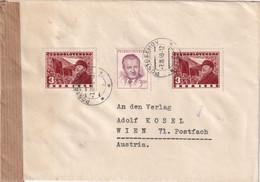TCHECOSLOVAQUIE 1949 LETTRE CENSUREE DE POSTRELMOV - Covers & Documents
