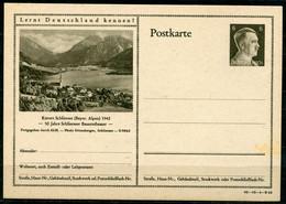"""German Empires1942 Kopfbild A.Hitler GS Mi.Nr.P305/42-10-1-B10 """"Lernt Deutschland Kennen!-Kurort Schliersee,Alpen """"1 GS - Postwaardestukken"""