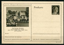 """German Empires1942 Kopfbild A.Hitler GS Mi.Nr.P305/42-7-1-B7 """"Lernt Deutschland Kennen!-Bad Neuenahr,Rheinland""""1 GS - Postwaardestukken"""