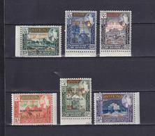 ADEN KATHIRI STATE OF SEIYUN 1967, Mi# 116-121, CV €150, Black Overprint, Architecture, MNH - Autres