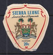 Sierra Leone: 1965   Arms    SG382     20c     Used - Sierra Leone (1961-...)