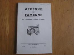 ARDENNE ET FAMENNE N° 3 Année 1959 Régionalisme Archéologie Légende Pont Durbuy Sainte Trinité Bastogne D'Heur Verrier - België