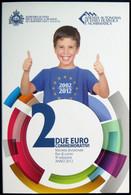 SA20012.1 - COFFRET BU SAINT MARIN - 2012 - 2 Euros Commémo. 10 Ans De L'euro - San Marino