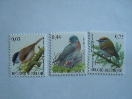 België Belgique Belgium 2005 Vogels Oiseaux Buzin Glanskopmees Houtduif Vuurgoudhaantje Mesange COB 3389-3391 MNH ** - 1985-.. Oiseaux (Buzin)