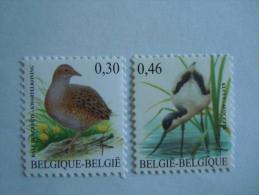 België Belgique Belgium 2006 Vogels Oiseaux Buzin Kwartelkoning Kluut Râle Des Genêts Avocette COB 3478-3479 MNH ** - 1985-.. Oiseaux (Buzin)