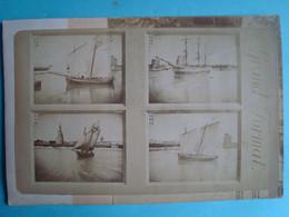 17 - LA ROCHELLE - Carton 11cm X 16cm De 8 Photos (4 Au Recto, 4 Au Verso) De Bateaux Et Autres Lieux De LR - La Rochelle