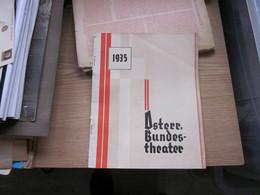 Osterr Nundes Theater 1935 Calendar - Libros Antiguos Y De Colección