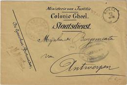Omslag Stempel Gheel (Geel) Colonie Gheel Oorlog 14 - 18 Stempel Turnhout Aan Burgemeester Antwerpen - Deutsche Armee