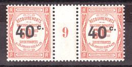 Millésime 9 (1909) Du Timbre-Taxe N° 50 - Neuf ** - Millésime