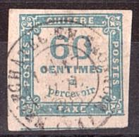 Timbre-Taxe N° 9 Oblitéré Neufchâtel En Saosnois (Sarthe) - 1859-1955 Used