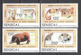 Senegal 1986 Mi 938-941 MNH WILDLIFE - Wild
