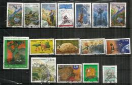 ANDORRA.FR. Año Completo 2003, 16 Sellos Usados de 1ª Calidad Tour De Francia, Salto Con Pértiga, Grosellas, Gaughin, - Used Stamps