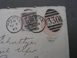 GB Cv, 1893  Halifax - Briefe U. Dokumente