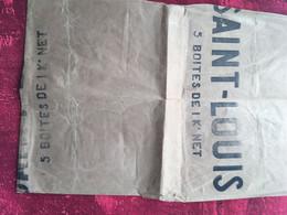 SUCRE SAINT LOUIS MARSEILLE✔️Publicité Ancien Papier D'emballage Ayant Servi Comme Protège Cahier -☛ou Document - Advertising