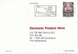 Denmark 1984 Herlev University Library Kopenhagen Card - Cartas