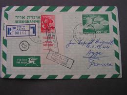 Israel Cv. France  1957 - Airmail