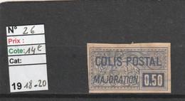 FRANCE COLIS POSTAUX 1918/1920 - N° 26    (voir Scan) - REF 5126 - Used
