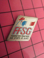 812c Pin's Pins / Beau Et Rare : Thème SPORTS / FFSG COQ TRICOLORE SPORTS DE GLACE Sorbet Artistique ? - Sport Invernali