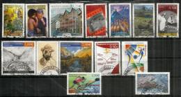 ANDORRA.FR.Año Completo 2004 (14 Sellos Usados) 1ª Calidad, Vall Del Madriu Unesco,Olimpiadas De Atenas, Niños Del Mundo - Used Stamps