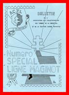 """Brochure Marcophile """" La Ligne Maginot 1939 - 40 """"  Unités, Secteurs Postaux, Combats. - Guerra Del 1939-45"""